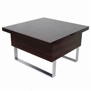 Table Basse Multifonction : table basse relevable multifonction porto wenge achat ~ Premium-room.com Idées de Décoration