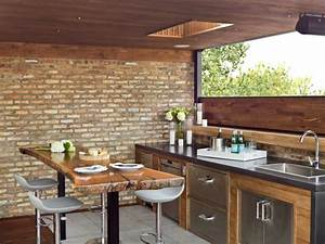 Bar Exterieur Bois : cuisine ext rieure t 50 exemples modernes pour se faire une petite id e ~ Teatrodelosmanantiales.com Idées de Décoration