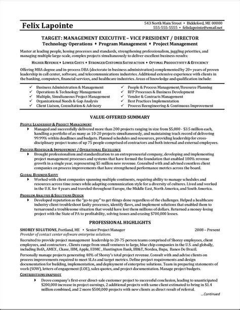Resumes For Project Managers by This C Level Executive Resume Was Professionally Written