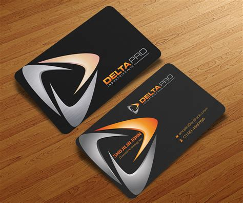 Serious, Modern, Steel Business Card Design For Delta Pro Personal Trainer Business Card Quotes Restaurant Manager Ideas Qr Code Minimum Size Reader Sdk Ios Pre Qualify Pro Shape Gmbh Best For Transparent Printing Singapore