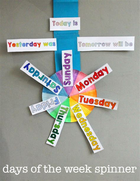 free days of the week printable spinner new teachers 832 | 64bd223fa199a3b570f8623d3582069f