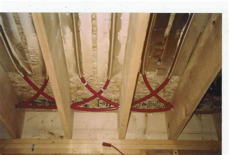 hardwood floor buckling from hvac duct underneath the floor joist installation diy radiant floor heating