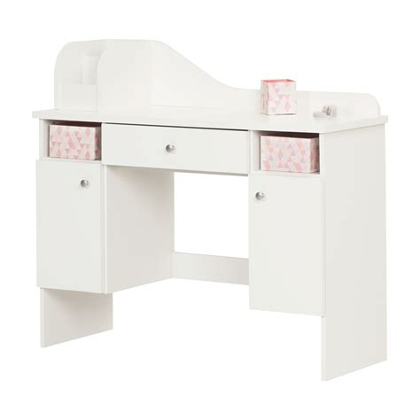 white makeup desk with south shore vito pure white makeup desk with drawer