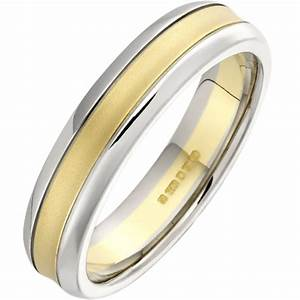 an elegant ladies mixed finish wedding ring in 18ct yellow With mixed gold wedding rings