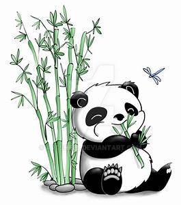 Panda Eating Bamboo by artshell on DeviantArt