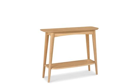 Stockholm Oak  Console Table With Shelf  Console Tables
