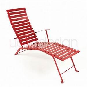 Chaise Bistro Fermob : chaise longue bistro coquelicot de fermob ~ Melissatoandfro.com Idées de Décoration