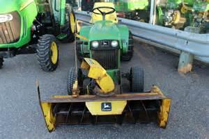 John Deere Tractor with Snowblower