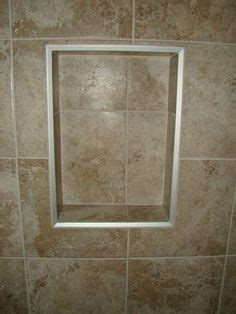 shower niche  schluter metal edges  schluter