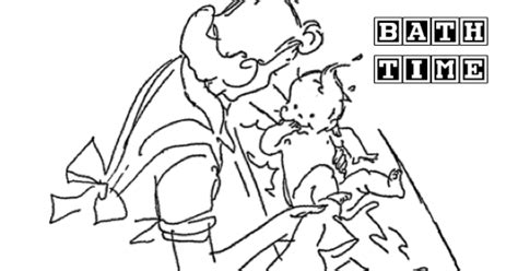 Bath Time Coloring Pages Bath Time Scrapbook Page The Doll Coloring Book