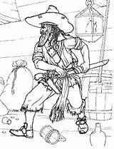 Pirate Coloring Pirates Colorkid Boys sketch template