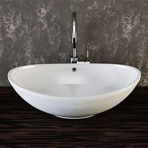 Waschbecken Oval Aufsatz : die besten 25 keramik waschbecken ideen auf pinterest waschbecken glas ich und mein holz und ~ Frokenaadalensverden.com Haus und Dekorationen