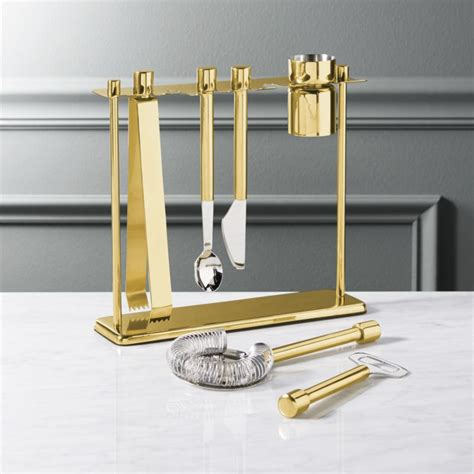 Bar Accessories Store by Top Shelf Bar Tool Set With Stand In Bar Accessories