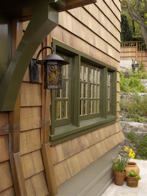 side  house rustic exterior san francisco  camber construction