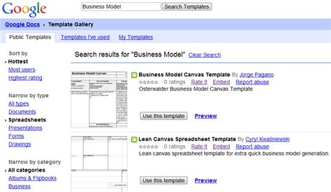 Business Model Canvas Template Word