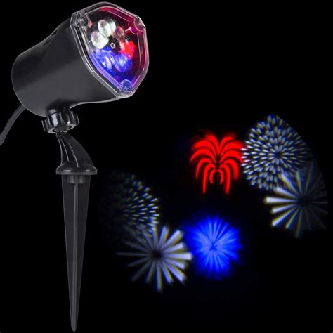 holiday living 10 ct path lights lightshow 10 24 in led whirl a motion 4th of july rwwb
