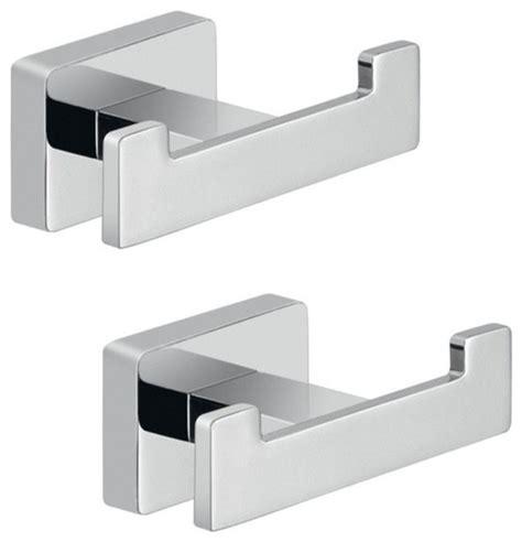 Modern Bathroom Hooks by Chrome Bathroom Accessory Hook Set Modern Robe Towel
