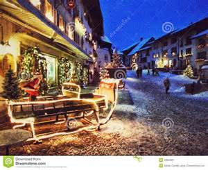 Gruyeres Switzerland Christmas Village
