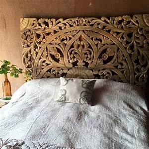 Buy Balinese Carved Wood Bed Headboard Online