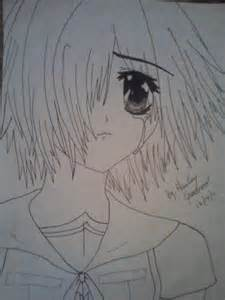 Sad Anime Girl Drawing