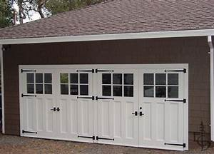 these are great looking garage doors however they swing With automatic carriage garage doors