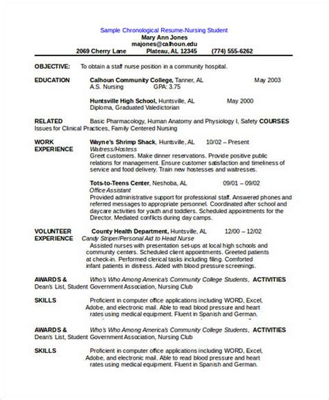 15686 chronological resume template free chronological