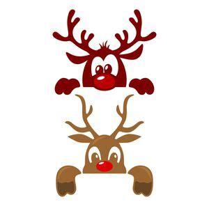 cute christmas reindeer cuttable design