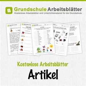 Arbeitsblätter Deutsch Grundschule Artikel Arbeitsbl Tter
