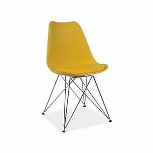 Chaise Pied Metal Noir : chaise dsr tim design eames avec pieds en m tal ~ Teatrodelosmanantiales.com Idées de Décoration
