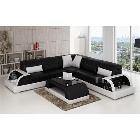 canapé de couleur canapé d 39 angle design en cuir bolzano l pop design fr