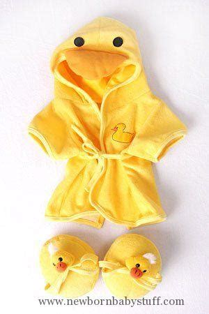 baby accessories duck robe slippers pajamas outfit teddy