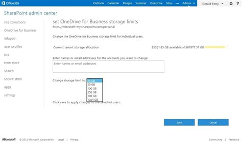 Office 365 Quota by Sharepoint Announces 1tb Site Collections And