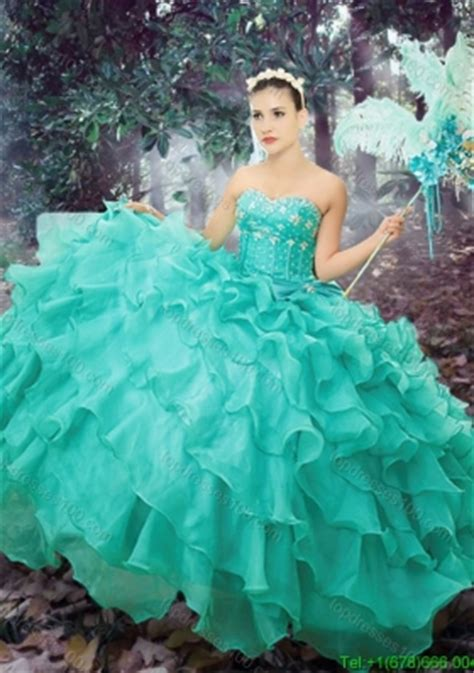 western theme  simple sweetheart turquoise quinceanera