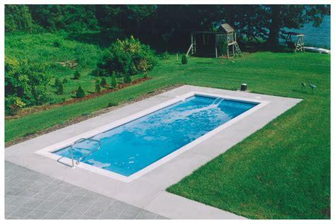 rectangle pool designs claremont medium fiberglass inground viking swimming pool