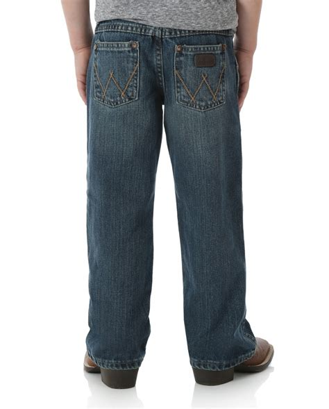 wrangler boys aatto relaxed bootcut retro jeans fort brands