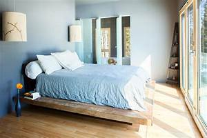 delightful wooden platform bed frames decorating ideas With amazing bedroom with floating bed frame
