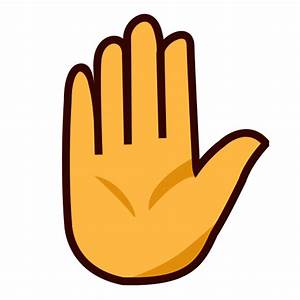 Raised Hand Emoji for Facebook, Email & SMS | ID#: 7290 ...