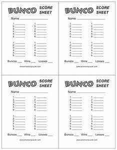 this is the bunco score sheet download page you can free With free bunco scorecard template