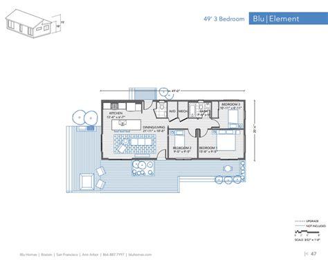 floor plans for one homes homes element 3 br 1 5 ba floor plan modernprefabs