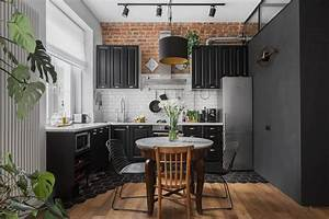 Kitchens, With, Black, Cabinets