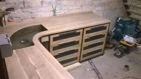 meuble bois cuisine établi façon cuisine le copeau et l 39 étincelle
