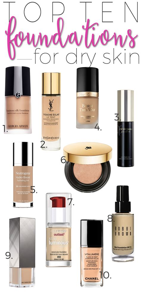 top  foundations  dry skin beautiful makeup search