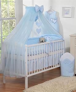 Moustiquaire Ciel De Lit : ciel de lit en moustiquaire grand format coeur bleu ~ Dallasstarsshop.com Idées de Décoration