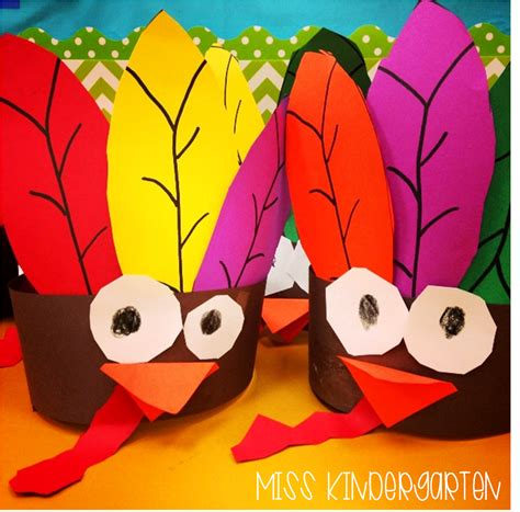 gobble gobble turkey headbands  kindergarten