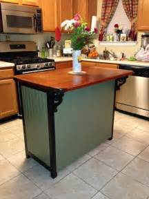kitchen islands ideas dresser to kitchen island repurpose ideas refurbished ideas