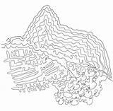 Picchu Machu Colorear Coloring Ano Dia Template sketch template
