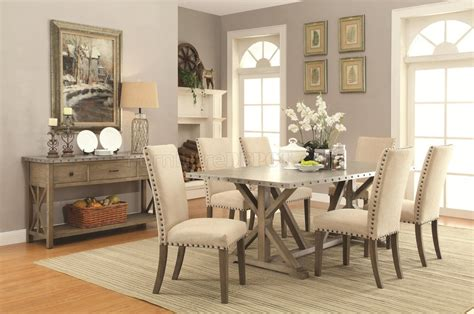 webber dining table   driftwood  coaster woptions