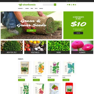 bootstrap template gardening agriculture templates
