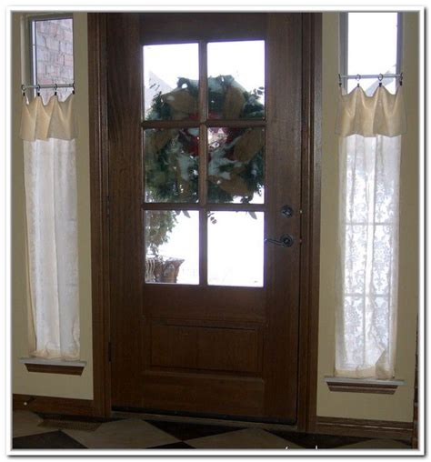 small curtain rods for sidelights windows