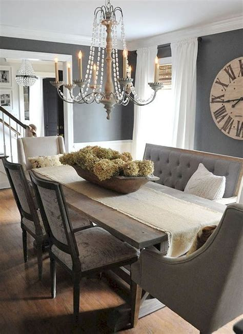 Dining Room Table Decor Ideas by Stylish Farmhouse Dining Room Table Decorating Ideas 18